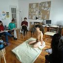 Figurative Drawing Club with naked model's picture
