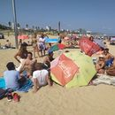 Picnic, music, sports and chat Bogatell beach's picture