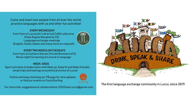 Drink, Speak and Share - Lucca | Lucca, Tuscany, Italy