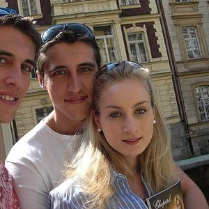 Anne, Vitaly and Roman Balcke and Semko's Photo