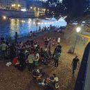 Picnic by the Seine river's picture