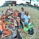 Picnic, sports, music and chat at Bogatell beach's picture