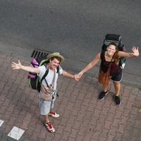 Felicitas and Lorenz traveling's Photo